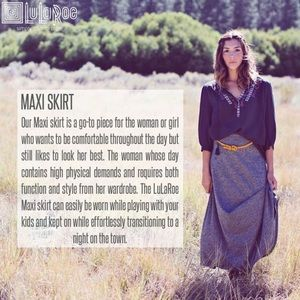 LuLaRoe Skirts - NEW! LLR Maxi Skirt/Dress